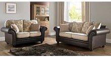 Regency 3+2 Seater Sofa Settee Oatmeal Fabric