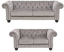 Regent Fabric 3 Seater + 2 Seater Sofa Set (Buy