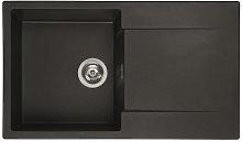 Reginox Amsterdam 10 Black Silvery Granite -