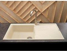 Reginox Elleci Cream Granite Inset Single Bowl