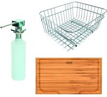 Reginox Large Wire Basket, Chopping Board and Soap