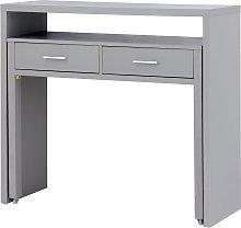 Regis 2 Drawer Console Desk - Grey
