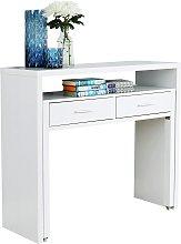 Regis 2 Drawer Console Desk - White