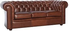 Register Leather 3 Seater Chesterfield Sofa