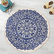Rehomy Round Area Rug with Tassels Washable Hand