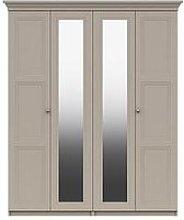 Reid Part Assembled 4 Door Mirrored Wardrobe