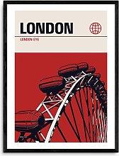 Reign & Hail - 'London Eye' Framed Print,