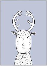 Reindeer Print - Wall Art | Child Room | Kids Room