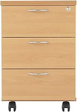 Relax Office 460mm Wooden Filing Cabinet Mobile