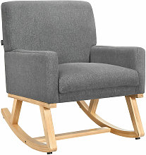 Relax Rocking Chair, Fabric Upholstered Single