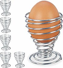 Relaxdays 10025077 Set of 6 Cup, Egg Made of