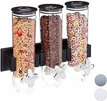 Relaxdays 10026443_46 Cereal Dispenser Triple Wall