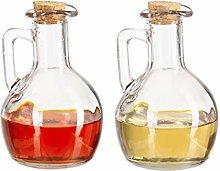 Relaxdays 10027814 Oil & Vinegar Dispenser Set of