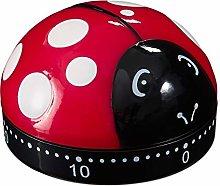Relaxdays 10027937 Kitchen Timer Ladybird,