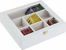 Relaxdays 10027981_49 Wooden Tea Box, 7