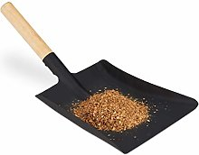 Relaxdays 10028792_59 Dustpan with Wooden Handle,