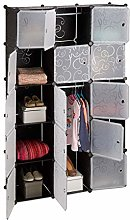 Relaxdays 11-Compartment Shelving Unit Wardrobe,