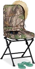 Relaxdays 360° Swivel Camping Chair, Padded
