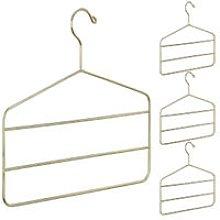 Relaxdays - 4 x Multi Hanger for Pants, Skirts &