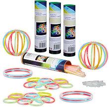 Relaxdays - 400 x Glow Sticks, Light Sticks with