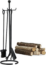 Relaxdays 5-Piece Fireplace Companion Tools, Set