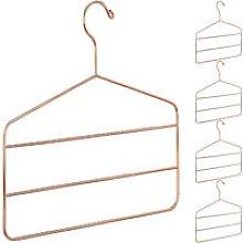 Relaxdays - 5 x Multi Hanger for Pants, Skirts &