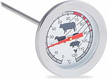 Relaxdays Analogue Insert Meat Thermometer,
