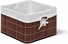 Relaxdays Bamboo Basket 20 x 31 x 31 cm Shelf with