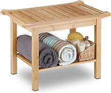 Relaxdays Bamboo Bathroom Bench, Hallway Seat,