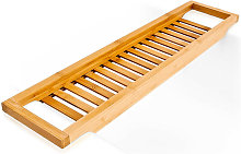 Relaxdays Bamboo Bathtub Caddy, Wooden Bathroom