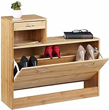 Relaxdays Bamboo Cabinet, Large Tilting