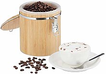 Relaxdays Bamboo Coffee Canister, Storage