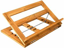 Relaxdays Bamboo Cookbook Stand/Holder Adjustable