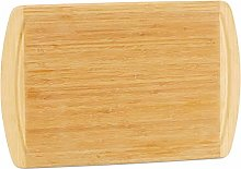 Relaxdays Bamboo Cutting Board with Juice Groove,
