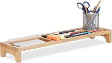 Relaxdays Bamboo Desk Organiser, 7