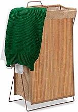 Relaxdays Bamboo Laundry Basket Foldable 40 Litres