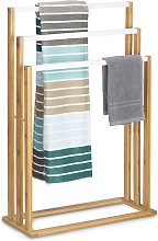 Relaxdays Bamboo Towel Stand Size: approx 82 x 54