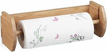 Relaxdays Bamboo Wall Holder, Size: 12 x 37 x 13