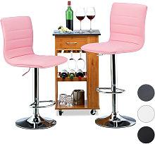 Relaxdays Bar Stool Set of 2, Height-Adjustable,