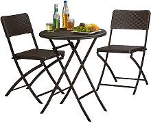 Relaxdays BASTIAN Garden Furniture Set, Foldable,