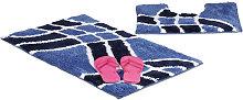 Relaxdays Bath Accessory 2-Piece Set with Wave