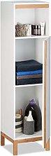 Relaxdays Bathroom Cabinet, Tall Cupboard, 3