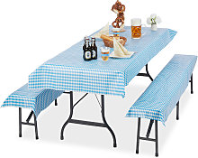 Relaxdays Beer Tent Set of 3, Tablecloth 250 x 100