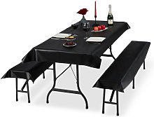Relaxdays Beer Tent Set of 3, Tablecloth 250x100