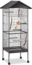 Relaxdays Bird Aviary, Cage for Budgies, Canaries,
