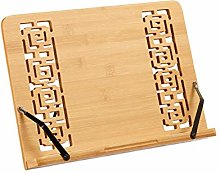 Relaxdays Book Stand, Adjustable Bamboo Cookbook