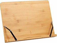 Relaxdays Book Stand, Bamboo Cookbook Holder,