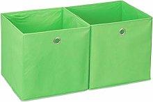 Relaxdays Box Set of 2, Shelf Storage Basket,