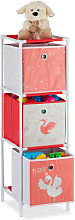 Relaxdays Children's Shelf with 3 Boxes, Toy