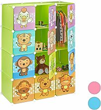 Relaxdays Children's Modular Shelf, Cute Animal